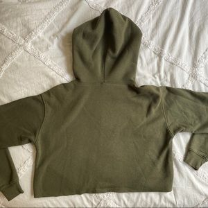 wild fable Tops - green cropped sweatshirt from target